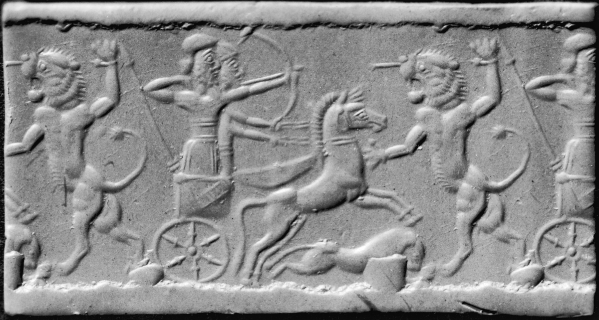 Iranian_-_Cylinder_Seal_with_a_Lion_Hunt_-_Walters_42797